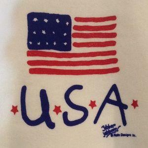 U.S.A. Flag on toddler sweatshirt, NWT, 50/50
